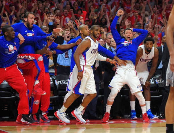 Chris Paul and the Clippers, seen during last year's NBA playoffs.