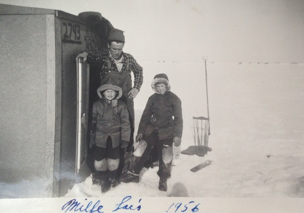Sonny Blau, back left, enjoyed Lake Mille Lacs with Don Blau, left, and Don's cousin, Tom Cooley.