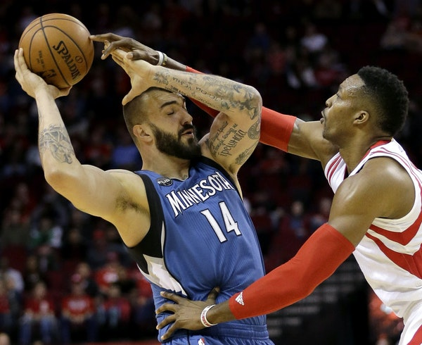 Wolves center Nikola Pekovic tried to keep the ball from Houston's Dwight Howard on Jan. 13, when he shot 4-for-9 from the field. Pekovic hasn't m