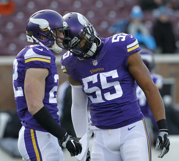 Safety Harrison Smith and linebacker Anthony Barr missed most of the Vikings' first meeting with the Seahawks this season.