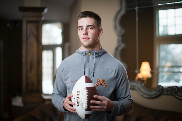 Ranked No. 51 among the nation's 2016 football recruits, Eden Prairie linebacker Carter Coughlin could have played anywhere. He chose Minnesota.