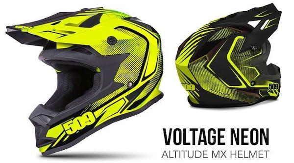 509 Inc. Voltage Neon Altitude MX carbon fiber helmet