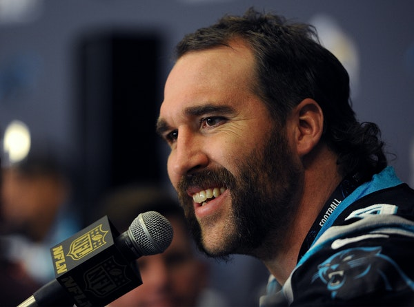 The Panthers' Jared Allen was held out of the NFC Championship Game but said the broken bone in his foot has healed.