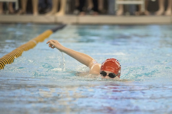 Eden Prairie's Nick Murray competed in the 200 medley relay during a meet last week. Murray, who has autism, is on the high school team but also com