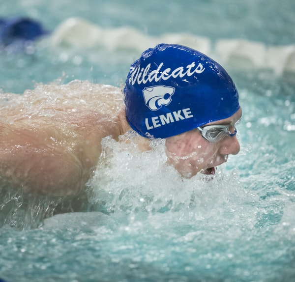 Parker Lemke, who has been swimming competitively since age 12, is going to swim for the University of Minnesota in the fall.