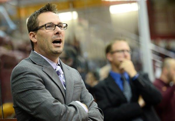 Gophers women's hockey coach Brad Frost.