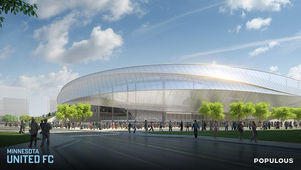 Renderings for the new home of Major League Soccer (MLS) in Minnesota were unveiled Wednesday.