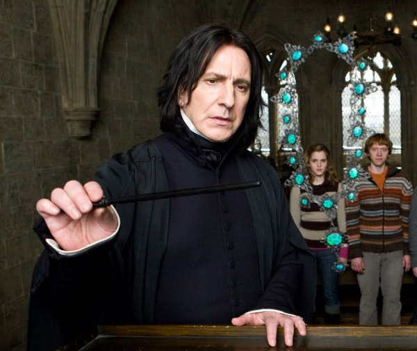 """Actor Alan Rickman played Professor Severus Snape in the """"Harry Potter"""" movies."""