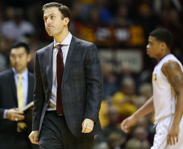 Gophers coach Richard Pitino showed his frustration early and often during the first half Saturday against South Dakota.