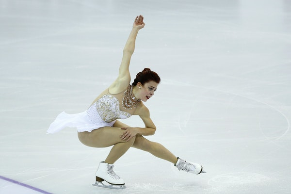 Ashley Wagner of the U.S. performs during the Ladies final of the Grand Prix Final figure skating competition in Barcelona, Spain, Saturday, Dec. 12,