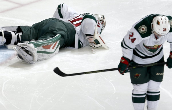 Goalie Devan Dubnyk and defenseman Matt Dumba showed their disappointment after the Wild's 6-3 home loss — Minnesota wore white — to Dallas on D