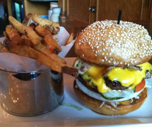 The burger at HauteDish.
