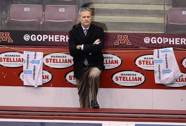 Don Lucia: His present contract as Gophers hockey coach expires after the 2016-17 season.