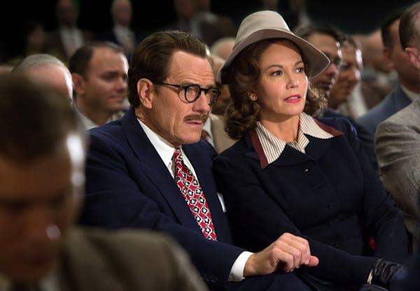 """Bryan Cranston as screenwriter Dalton Trumbo and Diane Lane as his wife, Cleo, in """"Trumbo."""""""