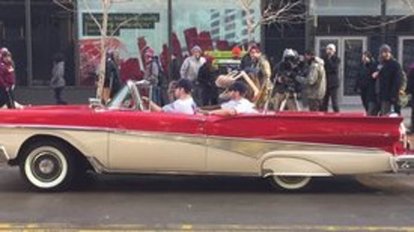 Twins stars Joe Mauer, Brian Dozier, Glen Perkins and Miguel Sano were spotted cruising on Nicollet Mall in downtown Minneapolis on Monday afternoon.