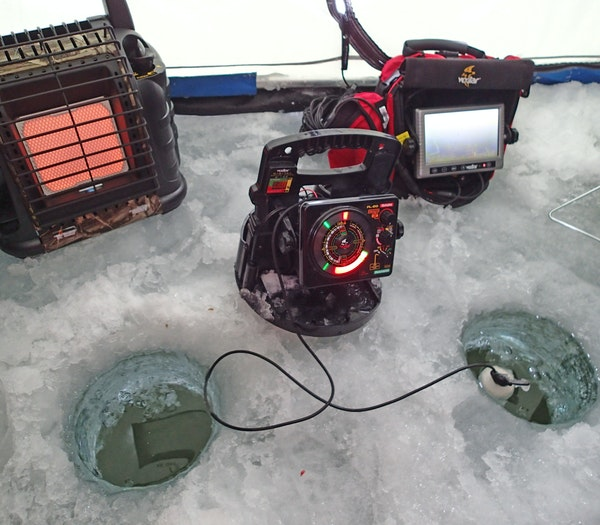 Gadget city The modern ice angler is warm in an oftentimes portable shelter, with a flasher (depth finder) that can show fish moving toward a bait, an