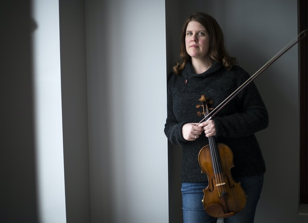 Minnesota Orchestra concertmaster Erin Keefe in the recently remodeled Minneapolis loft she shares with her husband, music director Osmo Vänskä.