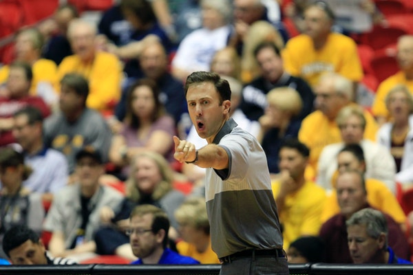 Richard Pitino instructs players during the Puerto Rico Tip-Off last month.