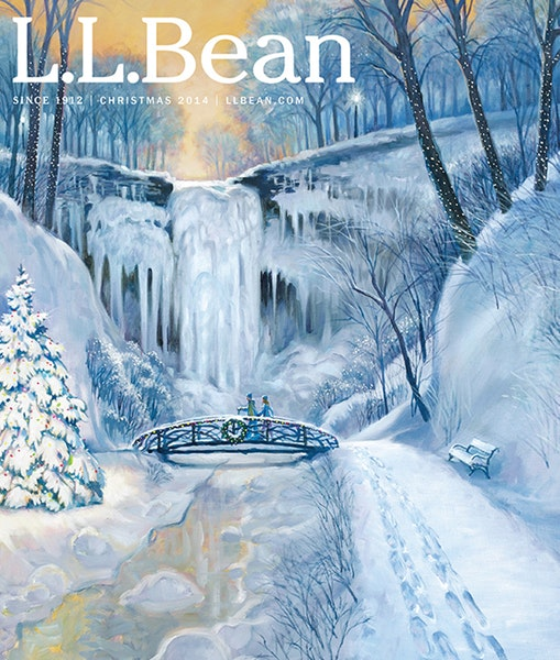 A fanciful view of Minnehaha Falls by Tom Foty for L.L.Bean.