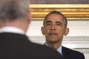 President Obama met with leaders during a meeting of the National Governors Association at the White House on Monday.