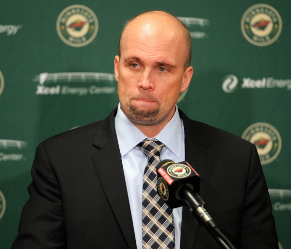 Former Minnesota Wild head coach Mike Yeo was visibly frustrated during a news conference following a 4-2 loss to the Boston Bruins on Saturday.