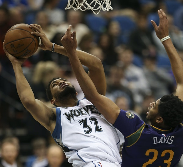 When Wolves center Karl-Anthony Towns had 19 points and 12 rebounds in a 116-102 loss to New Orleans on Tuesday, it was his eighth consecutive double-
