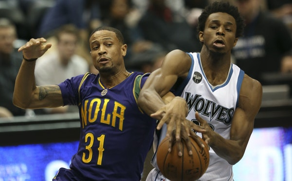 Nothing much went right for Andrew Wiggins and the Timberwolves against New Orleans on Monday.