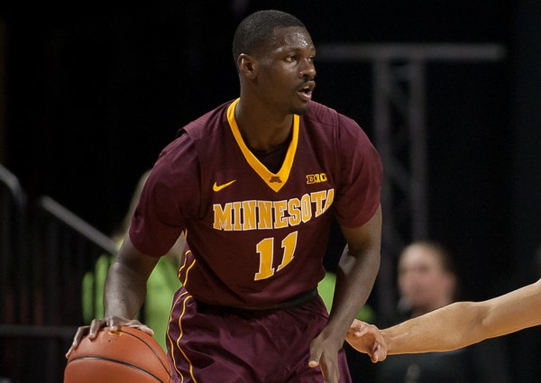 Carlos Morris was averaging 25.6 minutes this season, but played only four in the Gophers' 75-71 loss at No. 4 Iowa on Sunday. He was dismissed from