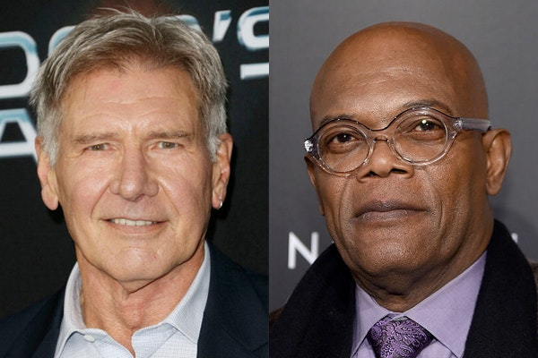 Harrison Ford, left, has passed Samuel L. Jackson as the top-grossing actor in U.S. box office history.