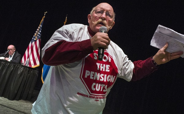 At Coffman Memorial Union, retired truck driver Loren Kramer was one of over 700 people who sounded off at the Treasury's town hall meeting on the s