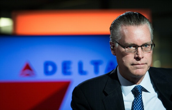 """Edward """"Ed"""" Bastian, president of Delta Air Lines Inc., poses for a photograph ahead of a Bloomberg Television interview on the sidelines of the S"""