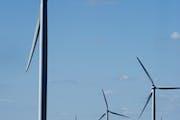 Wind generators on a wind farm near Hartland, Minn. Minnesota is a pioneer in wind energy: The state gets 15 percent of its power from wind, ranks sev