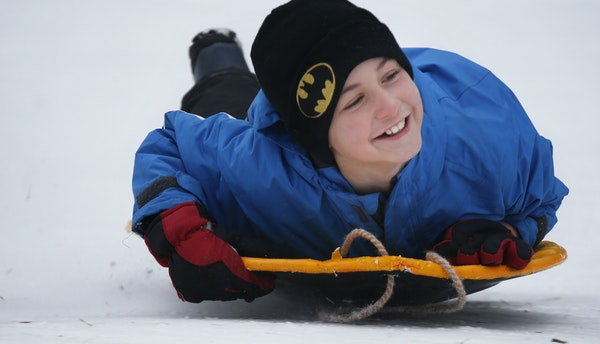 Dolan Daniels, 9, showed off his aerodynamic form at French Regional Park in Plymouth.