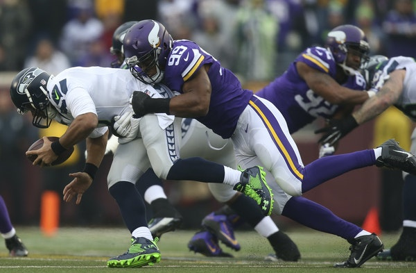 """Vikings defensive end Danielle Hunter (99) describes himself a """"wild child"""" when he was growing up in Jamaica. """"What you see on the island is ki"""