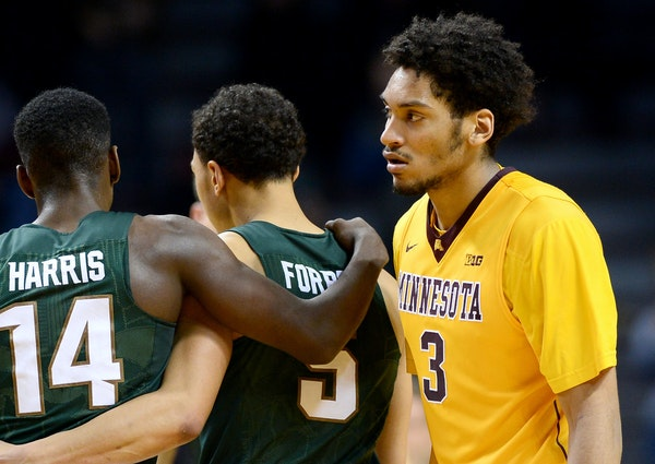 Gophers freshman forward Jordan Murphy wasn't happy about coming up short against then-No. 1 Michigan State on Saturday.