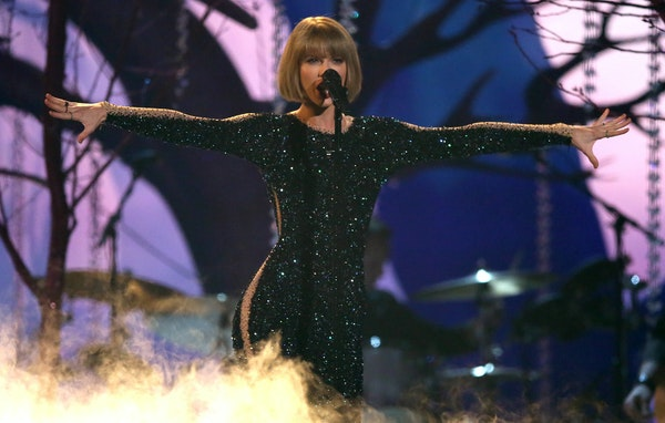 Taylor Swift's performance opened the 58th annual Grammy Awards at the Staples Center in Los Angeles.