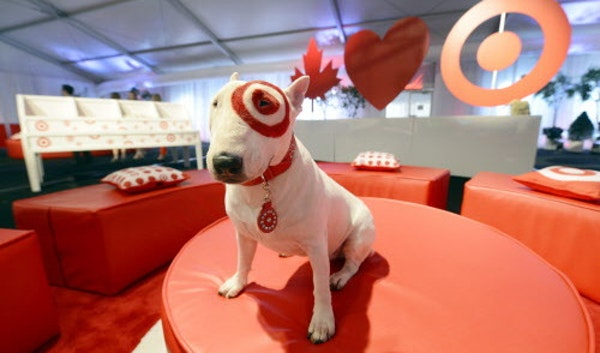 In August 2012, Target and Bullseye the dog were bullish on Canada, as the mascot sat in a reception tent near Toronto.