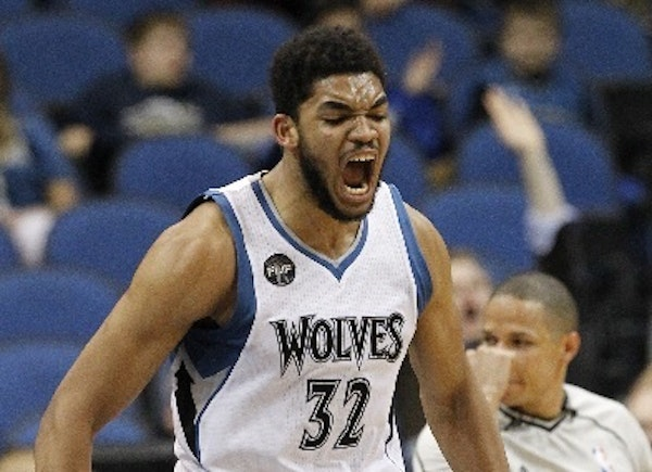 Wolves rookie center Karl-Anthony Towns