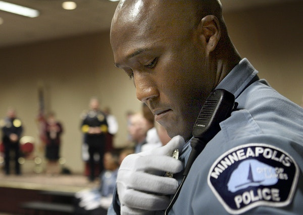 Minneapolis police officer Michael Griffin, shown when he graduated from the department's academy. He has cost the city $410,000 in two brutality case