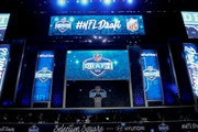 NFL Commissioner Roger Goodell opens up the 2016 NFL football draft at Selection Square in Grant Park, Thursday, April 28, 2016, in Chicago. (AP Photo