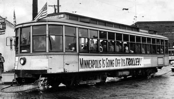 June 18, 1954, was the last day of trolley service in Minneapolis.