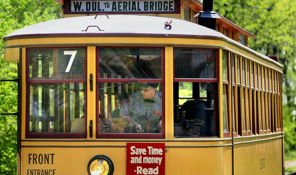 Volunteer John Reinan, a Star Tribune reporter, drove the Lake Harriet trolley in Minneapolis. He got his operator's license eight years ago after 2