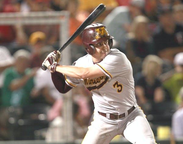 Matt Fiedler is a top hitter as well as the ace pitcher for Minnesota.