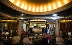 The historic (and well-preserved) art deco bar at the Commodore Bar and Restaurant. It's the work of theatrical set designer Werner Wittkamp (the Le