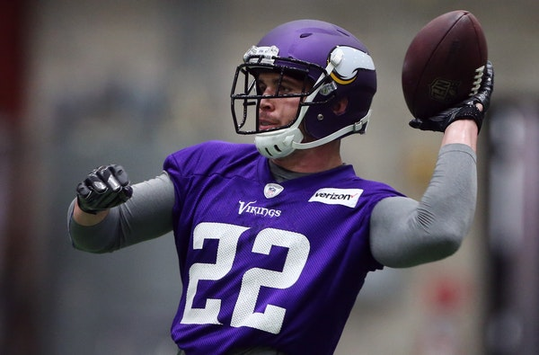 Vikings safety Harrison Smith during OTA practice at Winter Park in May.