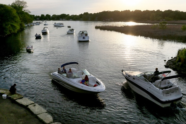There is a smaller percentage of boat owners in Minnesota nowadays, but those who do own them have bigger boats, as was evidenced near Lord Fletcher�