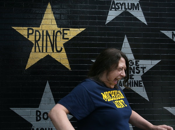 Michigan hospital worker Laura Menard was thrilled to see Prince's star at First Avenue nightclub in downtown Minneapolis.