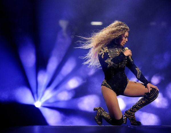 Beyonce performs during the Formation World Tour at Qualcomm Stadium on May 12.