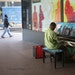 Walter Hampton of St. Paul played a piano outside the IDS Center earlier this month.