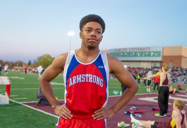 Sprinter Evan McClellon of Armstrong